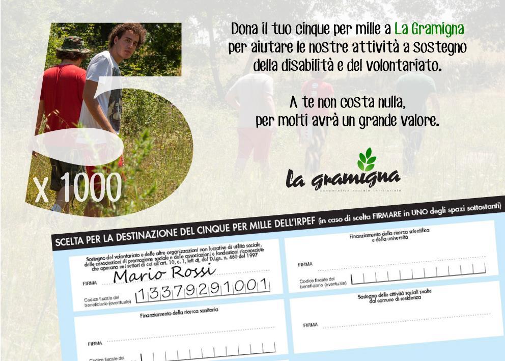 5x1000 Cooperativa Sociale La Gramigna